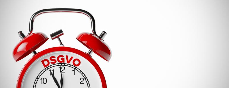 DSGVO Datenschutz-Grundverordnung Konzept auf einem roten Wecker